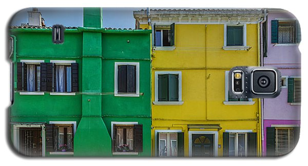 Colorful Houses With Bicycle Galaxy S5 Case
