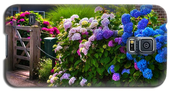 Colorful Hydrangea At The Gate. Giethoorn. Netherlands Galaxy S5 Case by Jenny Rainbow