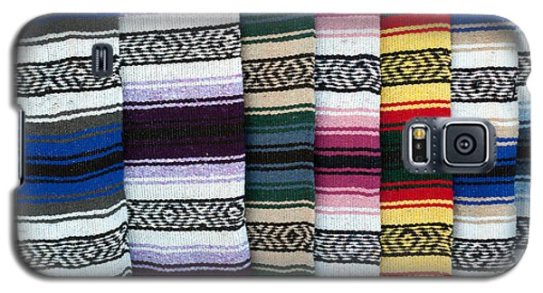 Galaxy S5 Case featuring the photograph Colorful Indian Rug Display by Gunter Nezhoda