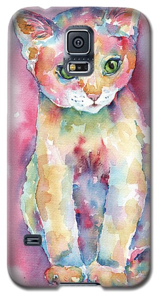 Colorful Kitten Galaxy S5 Case