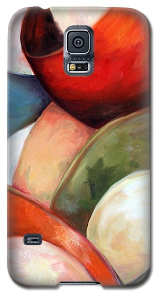 Galaxy S5 Case featuring the painting Colorful Lights by Meaghan Troup