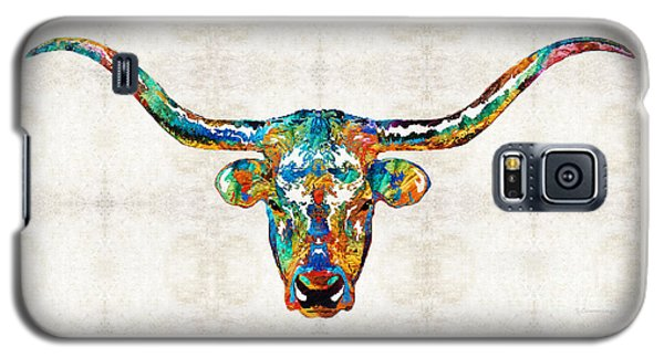 Colorful Longhorn Art By Sharon Cummings Galaxy S5 Case by Sharon Cummings