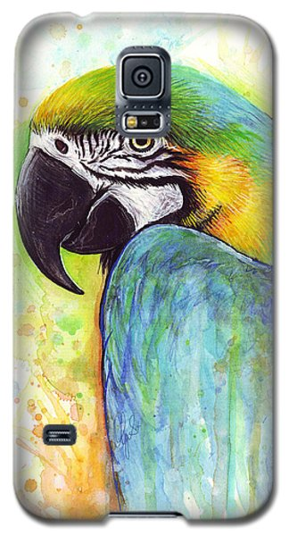Parrot Galaxy S5 Case - Macaw Painting by Olga Shvartsur