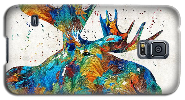 Colorful Moose Art - Confetti - By Sharon Cummings Galaxy S5 Case