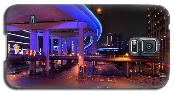 Colorful Night Traffic Scene In Shanghai China Galaxy S5 Case