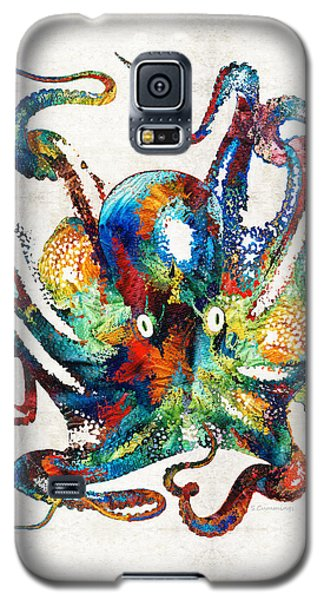 Colorful Octopus Art By Sharon Cummings Galaxy S5 Case
