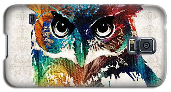 Colorful Owl Art - Wise Guy - By Sharon Cummings Galaxy S5 Case