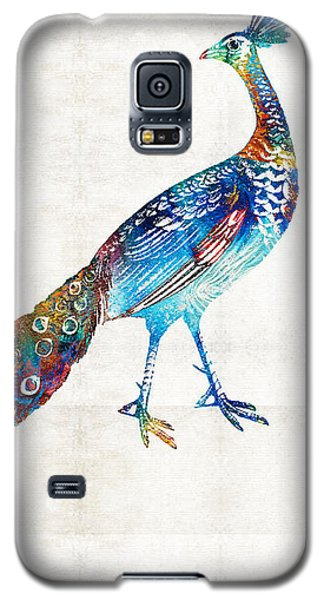 Peacock Galaxy S5 Case - Colorful Peacock Art By Sharon Cummings by Sharon Cummings