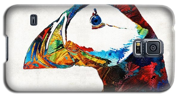 Colorful Puffin Art By Sharon Cummings Galaxy S5 Case