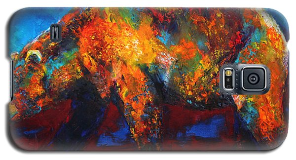 Galaxy S5 Case featuring the painting Colorful Reflections Bear Painting by Jennifer Godshalk