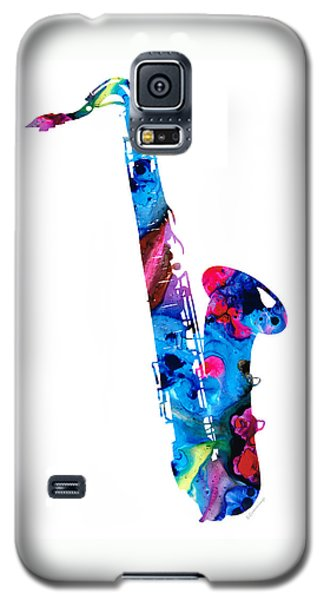 Music Galaxy S5 Case - Colorful Saxophone 2 By Sharon Cummings by Sharon Cummings