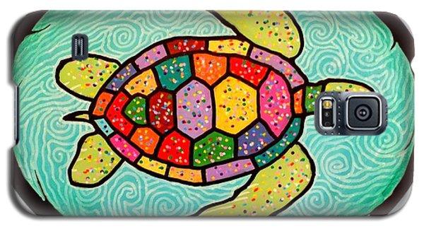 Colorful Sea Turtle Galaxy S5 Case