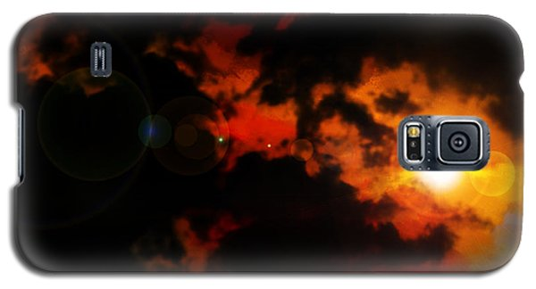 Galaxy S5 Case featuring the painting Colorful Sky by Persephone Artworks