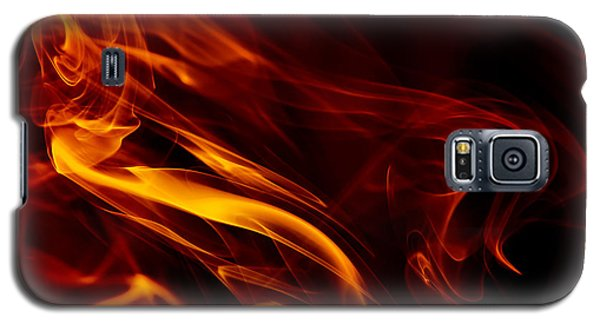 Galaxy S5 Case featuring the photograph Colorful Smoke Trails by Sebastien Coursol