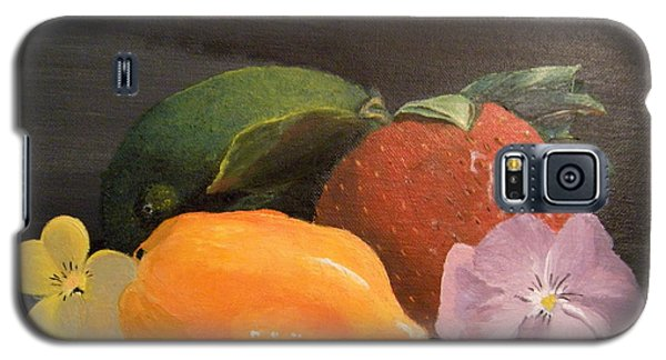 Galaxy S5 Case featuring the painting Colorful Still by Lori Ippolito