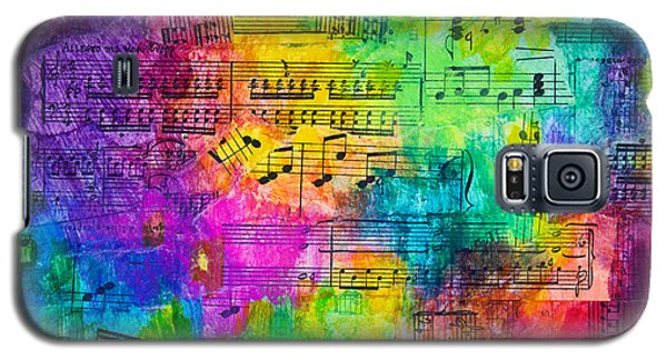 Galaxy S5 Case featuring the mixed media Colorful Symphony by Melissa Sherbon