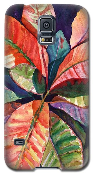 Colorful Tropical Leaves 1 Galaxy S5 Case by Marionette Taboniar