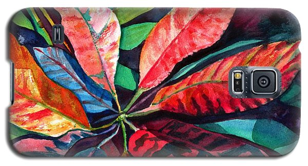 Colorful Tropical Leaves 2 Galaxy S5 Case