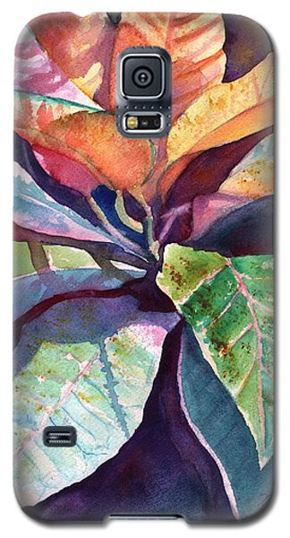 Colorful Tropical Leaves 3 Galaxy S5 Case