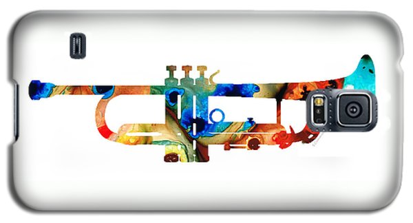 Music Galaxy S5 Case - Colorful Trumpet Art By Sharon Cummings by Sharon Cummings