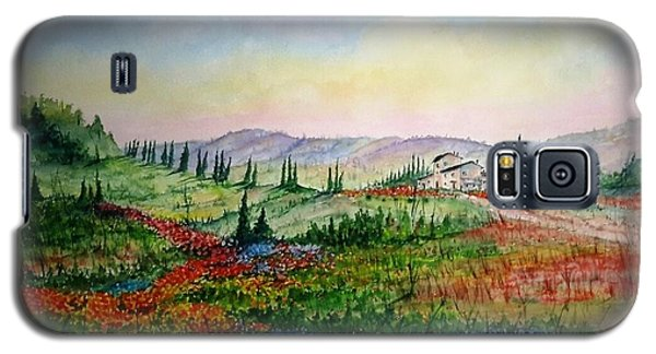 Galaxy S5 Case featuring the painting Colorful Tuscany by Richard Benson