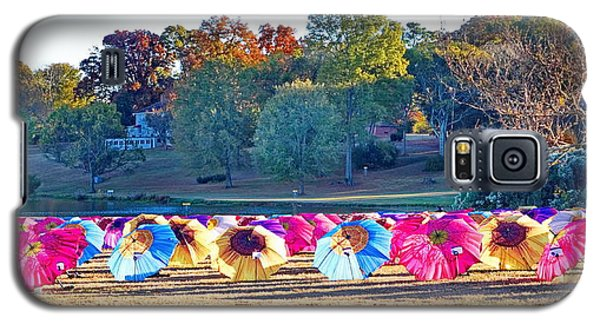 Colorful Umbrellas At The Park Galaxy S5 Case