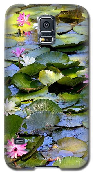 Colorful Water Lily Pond Galaxy S5 Case