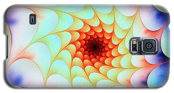 Galaxy S5 Case featuring the digital art Colorful Web by Anastasiya Malakhova