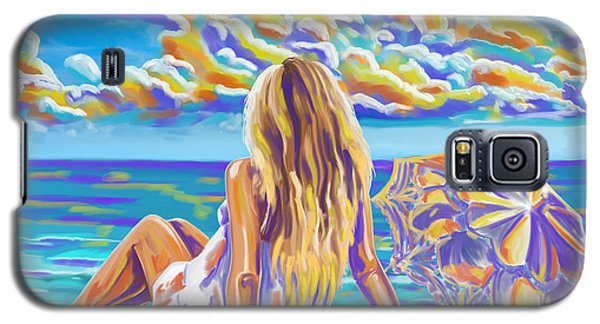 Colorful Woman At The Beach Galaxy S5 Case by Tim Gilliland