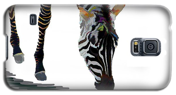 Galaxy S5 Case featuring the digital art Colorful Zebra 2 by Teresa Zieba