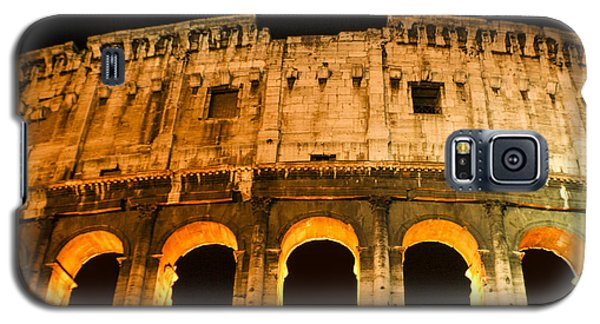 Galaxy S5 Case featuring the photograph Colosseum At Night by Rob Tullis