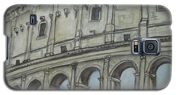 Galaxy S5 Case featuring the painting Colosseum Rome Italy by Malinda  Prudhomme