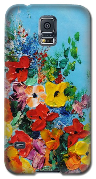 Galaxy S5 Case featuring the painting Colour Of Spring by Teresa Wegrzyn