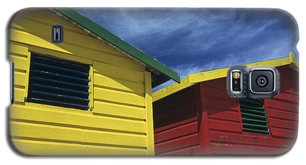 Coloured Beach Huts Galaxy S5 Case