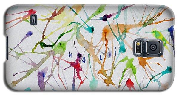 Colourful Holi Galaxy S5 Case by Sonali Gangane