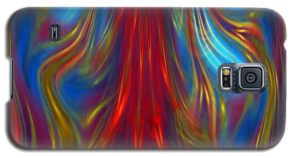Galaxy S5 Case featuring the digital art Colours Fiesta - Abstract Art By Giada Rossi by Giada Rossi