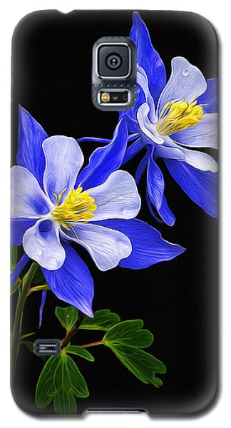 Galaxy S5 Case featuring the photograph Columbine Duet by Priscilla Burgers