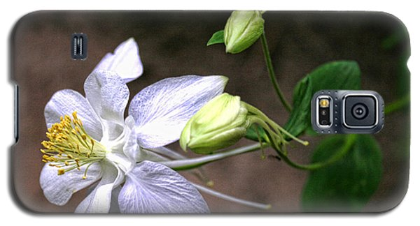 White Columbine Galaxy S5 Case