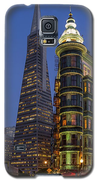 Columbus And Transamerica Buildings Galaxy S5 Case by Jerry Fornarotto