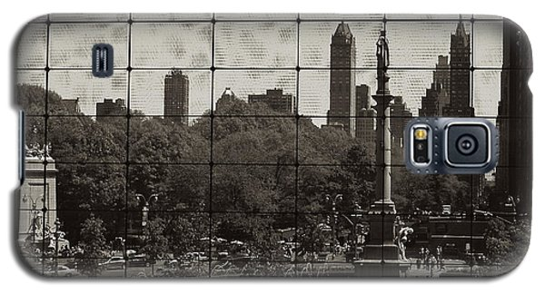 Columbus Circle Through The Time Warner Glass Window Galaxy S5 Case by John Colley