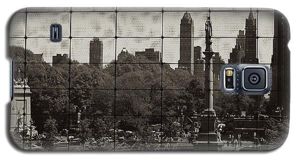Columbus Circle Through The Time Warner Glass Window Galaxy S5 Case