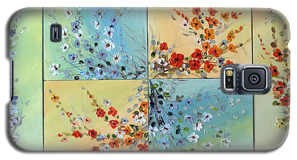 Galaxy S5 Case featuring the painting Combo Flowers by Dorothy Maier