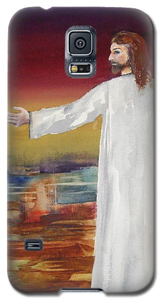 Galaxy S5 Case featuring the painting Come Follow Me by Ellen Canfield
