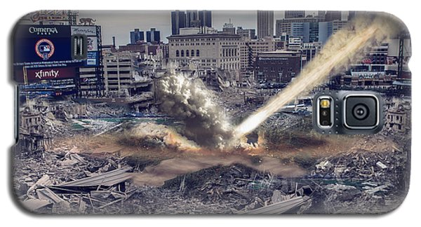 Galaxy S5 Case featuring the photograph Comerica Park Asteroid by Nicholas  Grunas