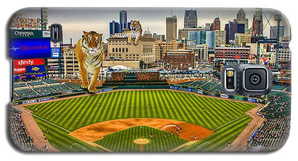 Galaxy S5 Case featuring the photograph Comerica Park Detroit Mi With The Tigers by Nicholas  Grunas