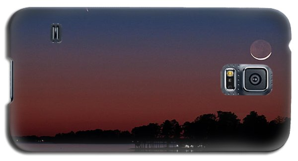 Comet Panstarrs And Crescent Moon Galaxy S5 Case