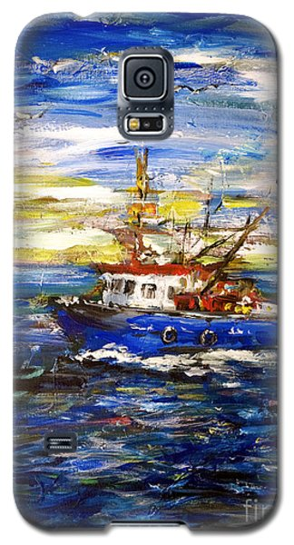 Galaxy S5 Case featuring the painting Coming Back by Arturas Slapsys