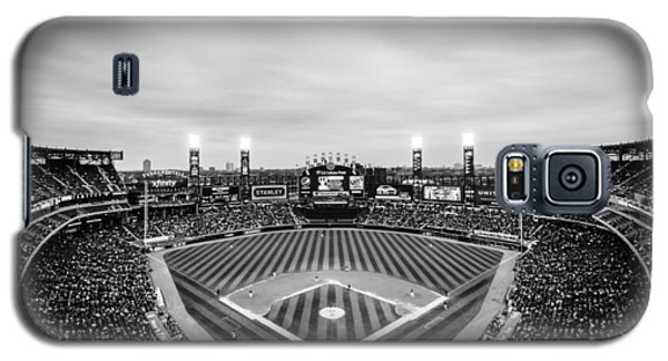Comiskey Park Night Game - Black And White Galaxy S5 Case