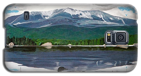 Loon Galaxy S5 Case - Common Loon On Togue Pond By Mount Katahdin by Stella Sherman
