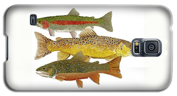 Common Trout  Rainbow Brown And Brook Galaxy S5 Case